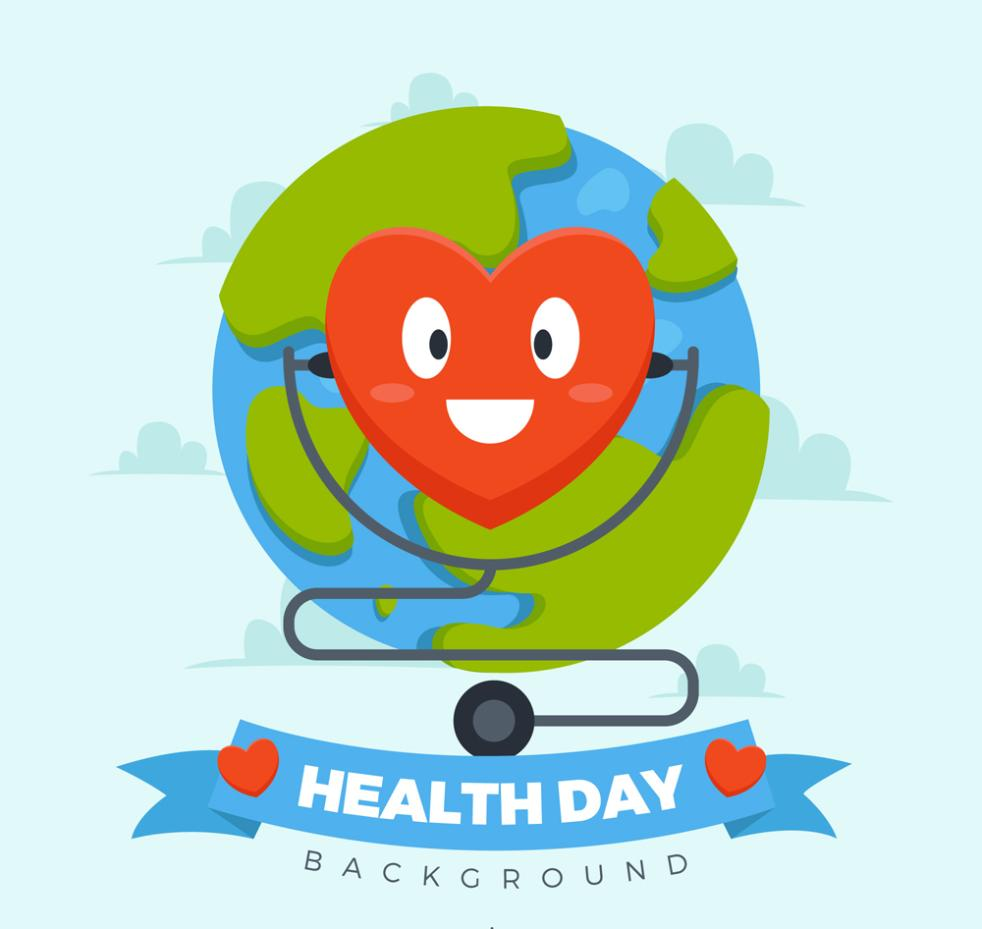 World Health Day, Creative Love Stethoscope Vector