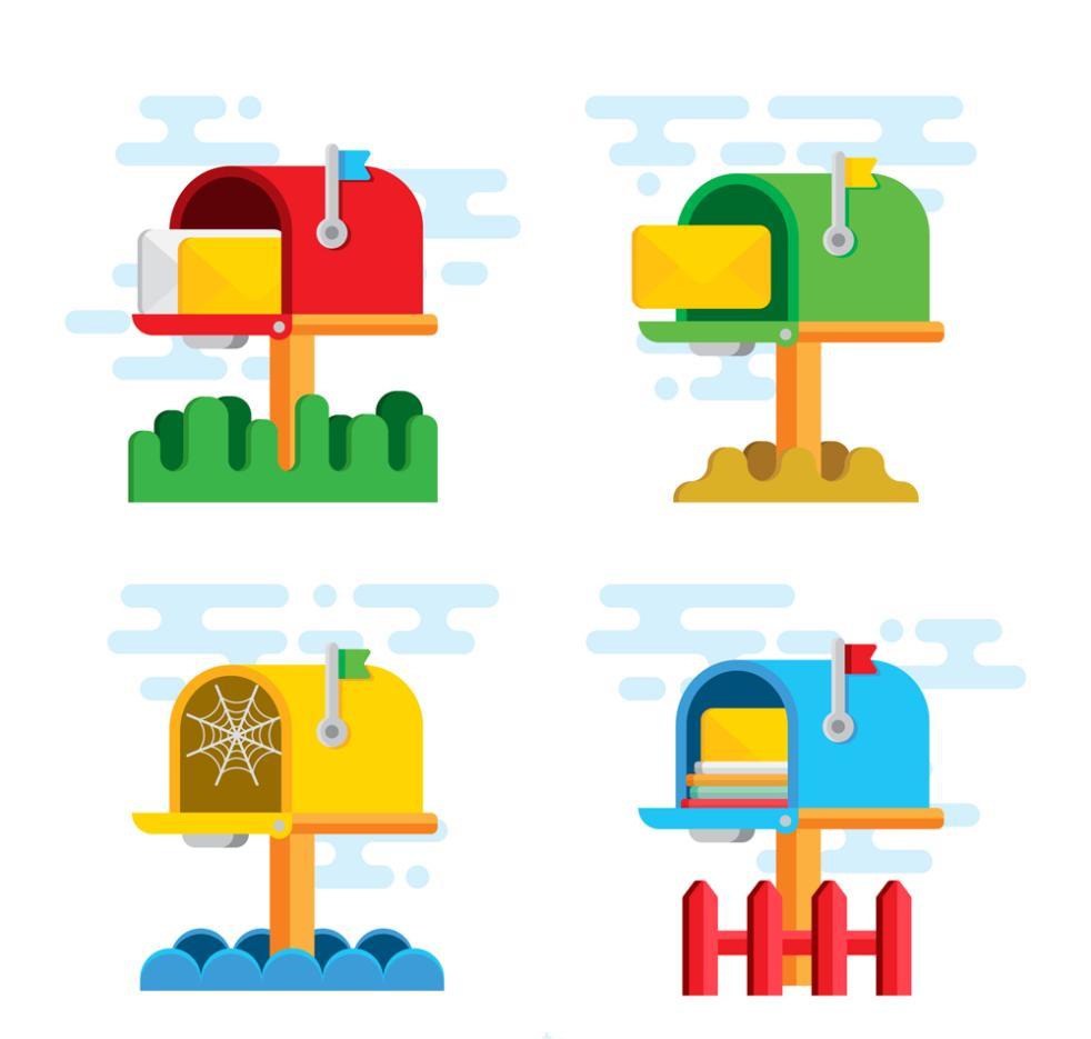 4 Color Box Design Vector