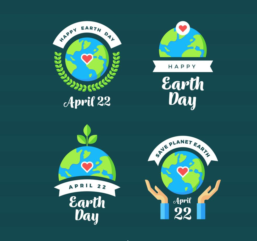 4 The Creative World Earth Day Vector