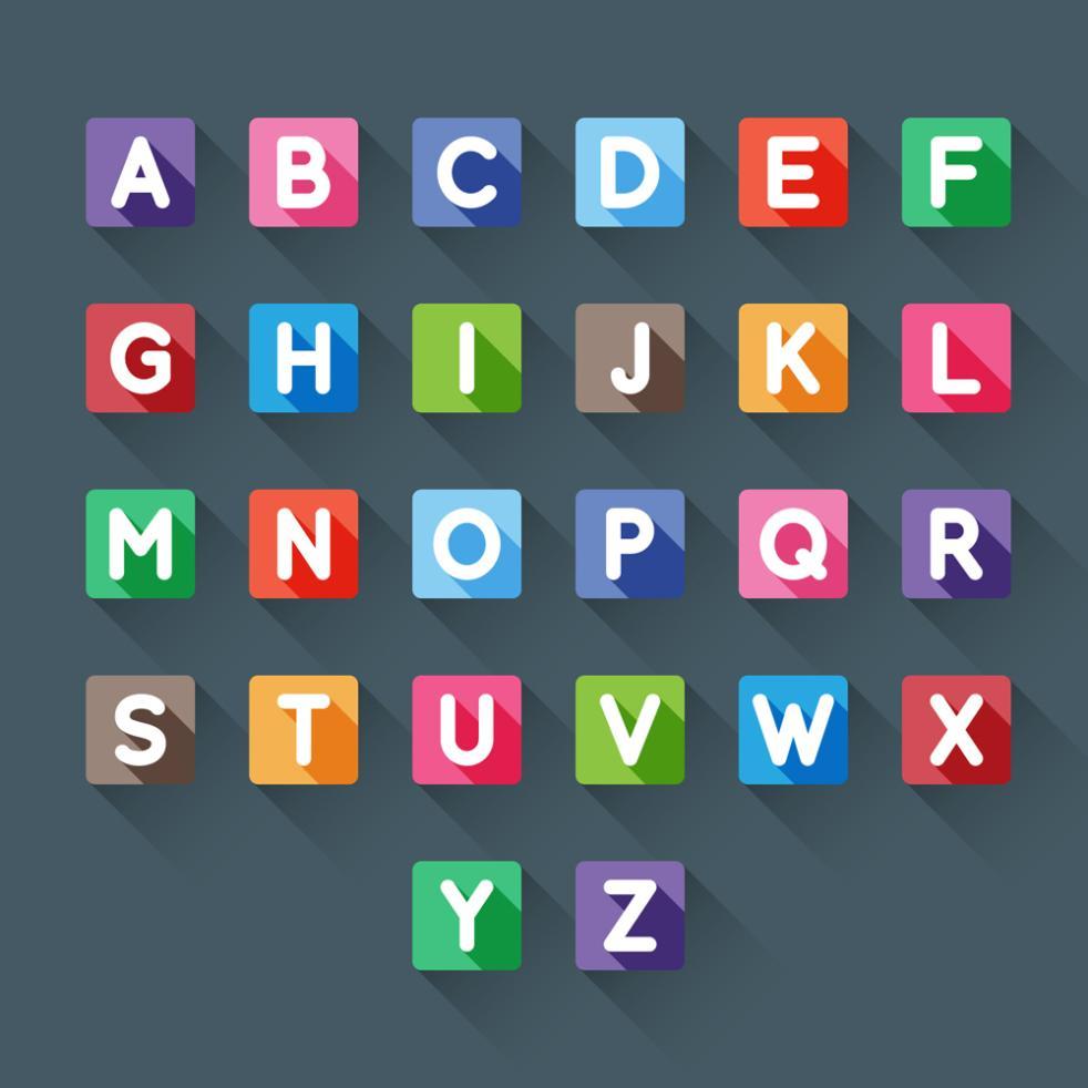 26 Square Capitals Vector