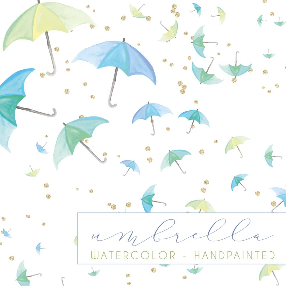 The Umbrella Seamless Background Coloured Drawing Or Pattern Vector