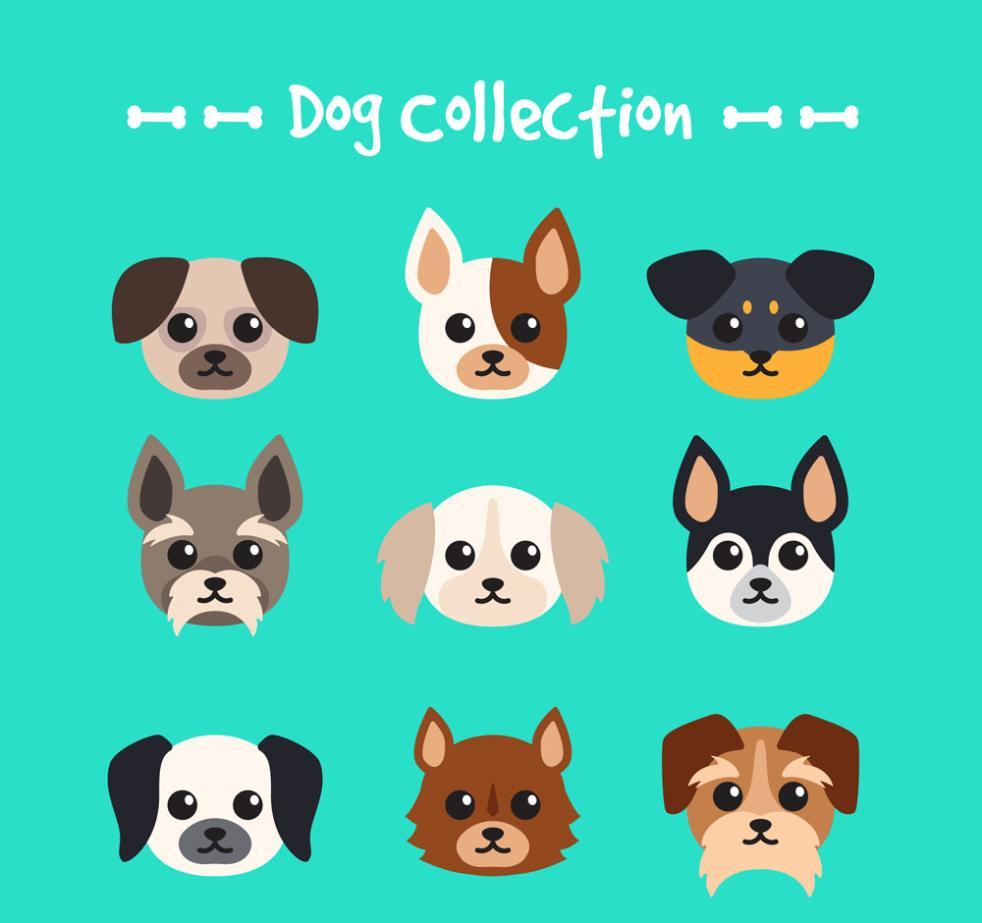 9 Novelty Pet Dog Vector