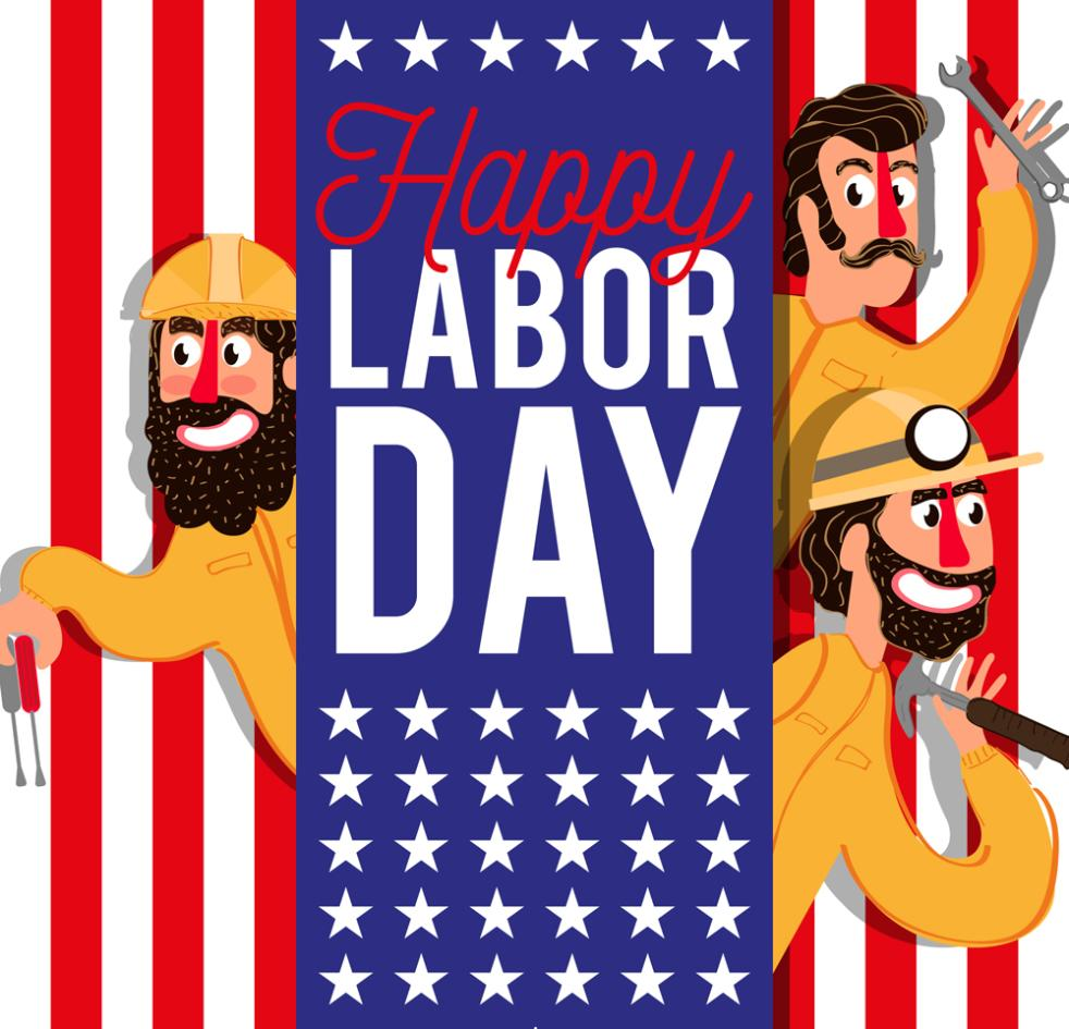 Creative Workers Labor Day Greeting Card Vector