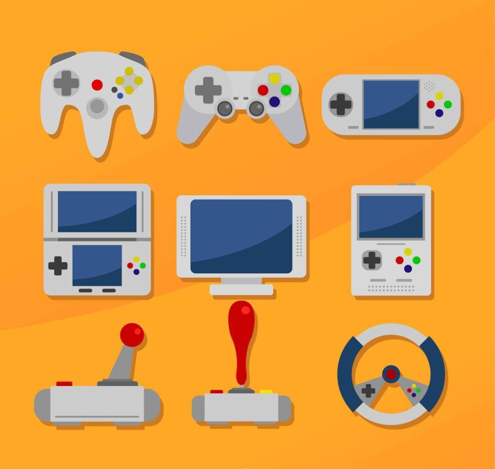 9 Delicate Game Equipment Vector