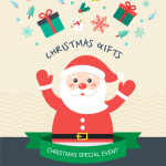 Christmas Gifts Event Vector