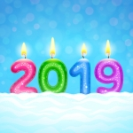 2019 Candle Vector