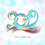 2019 Line Colorful Vector