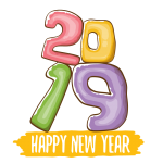 2019 Happy New Year 11 Vector