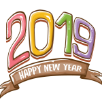 2019 Happy New Year 12 Vector