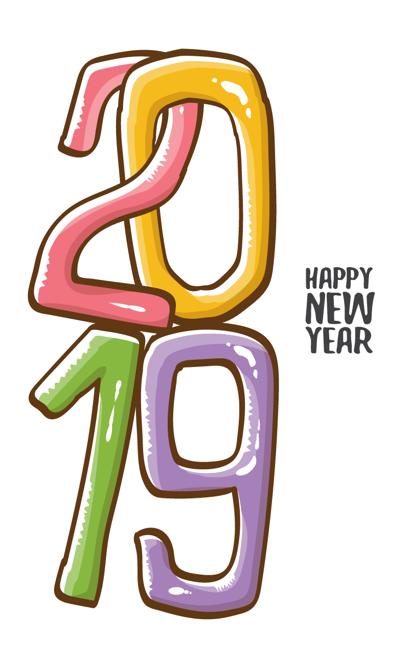 2019 Happy New Year 15 Vector | Free Vector Graphic Download