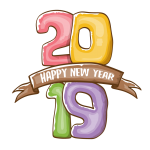 2019 Happy New Year 18 Vector