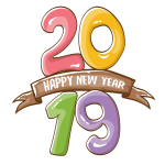 2019 Happy New Year 19 Vector