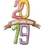 2019 Happy New Year 20 Vector