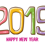 2019 Happy New Year 3 Vector