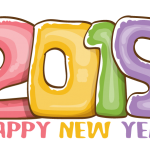 2019 Happy New Year Number Vector