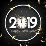 Christmas 2019 Happy New Year four Vector