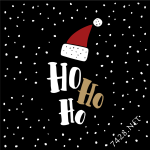 Christams Black Background with Falling Snow Vector