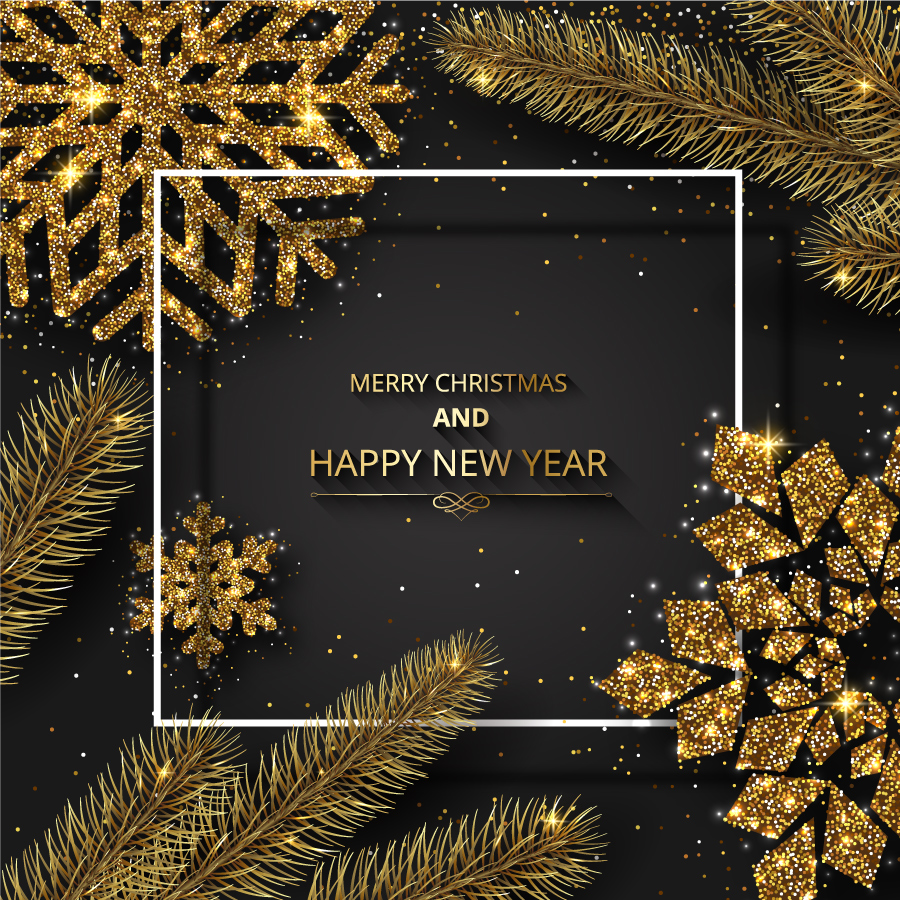 Christmas 2019 Images.Christmas 2019 Gold Tree Vector Free Vector Graphic Download