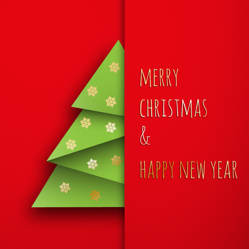 Merry Christmas Happy New Year Vector Free Vector Graphic Download