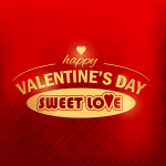 Happy Valentine's Day Red Sweet Vector