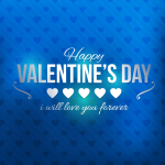 Happy Valentine's Day Blue Love Vector