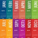Calendar 2019 Simple Vector