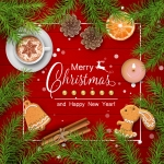 Merry Christmas Breakfast Vector
