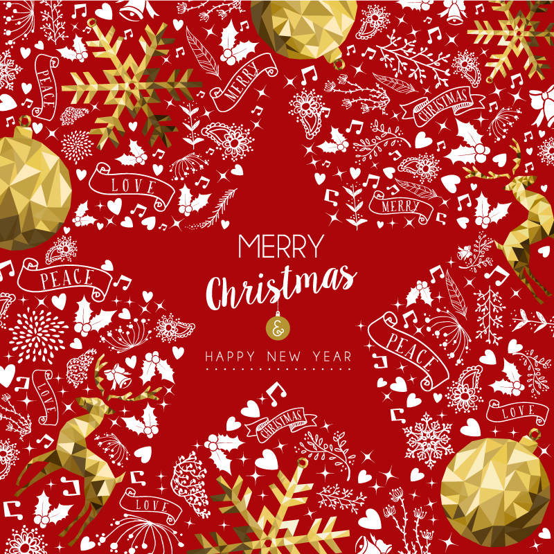 Merry Christmas Love Red Vector | Free Vector Graphic Download