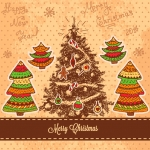 Christmas 2019 Colorful Christmas tree Vector