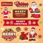 Christmas 2019 Variety of Santa Claus Vector