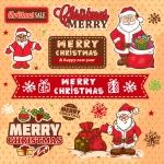 Christmas 2019 Variety of Santa ClausVector
