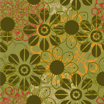 Christmas 2019 Floral Pattern Vector