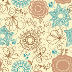 Christmas 2019 Floral Pattern Two Vector