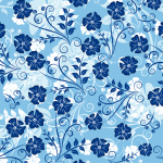 Christmas 2019 Floral Pattern Three Vector