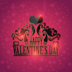 Happy Valentine Day Red Vector