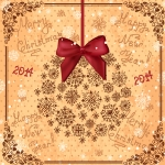 Christmas flower knot 2019 Vector