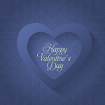 Happy Valentine Day Heart Blue Vector
