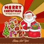 Christmas  2019 Santa Claus Gifts Vector