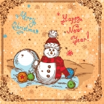 Christmas Snowman 2019 Vector