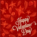Happy Valentine's Day Leaves Vector