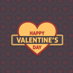Happy Valentine Day Simple Vector