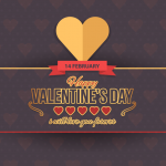 Happy Valentine Day Feb 14 Vector