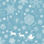 Christmas 2019 Light blue snowflake Vector
