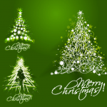 White dazzling Christmas tree 2019 Vector