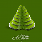 White and Green Mixed Leaves Christmas Tree 2019 Vector