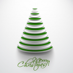 White and Green Mixed with Disc Christmas Tree 2019 Vector