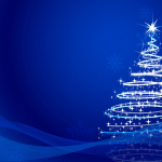 White Curve Dance Christmas Tree 2019 Vector