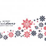 Colorful Snowflakes Christmas 2019 Vector