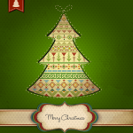 Carpet decoration Christmas tree 2019 Vector