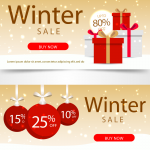 Winter Christmas Gifts 2019 Vector